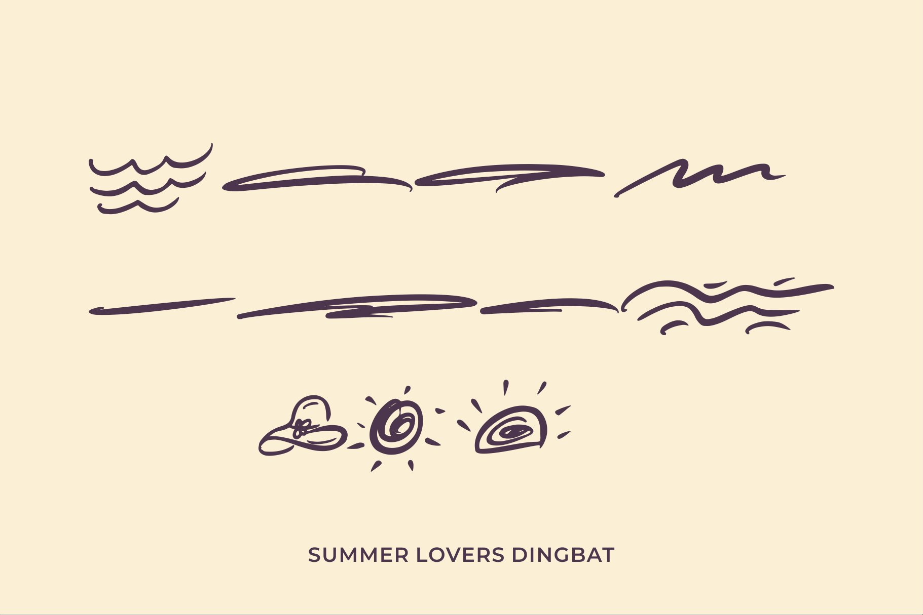 Summer Lovers with Alternate and Dingbat example image 11