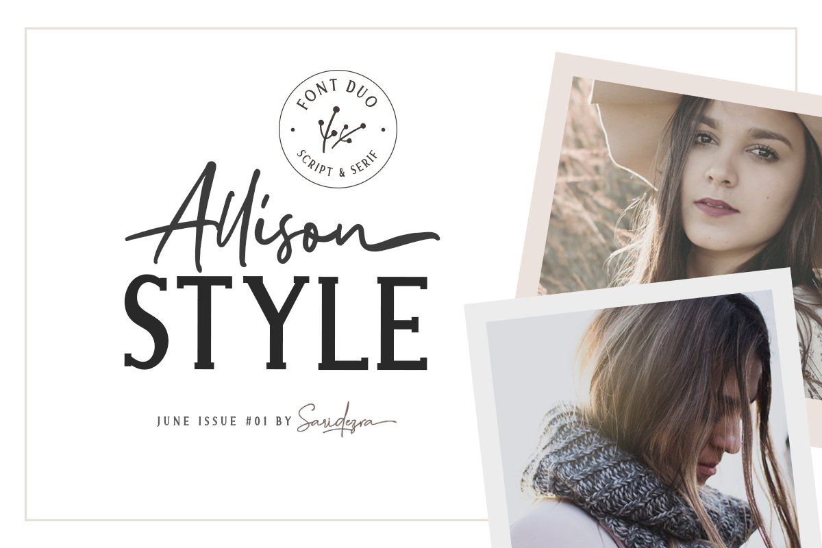Allison Style - Font Duo example image 1