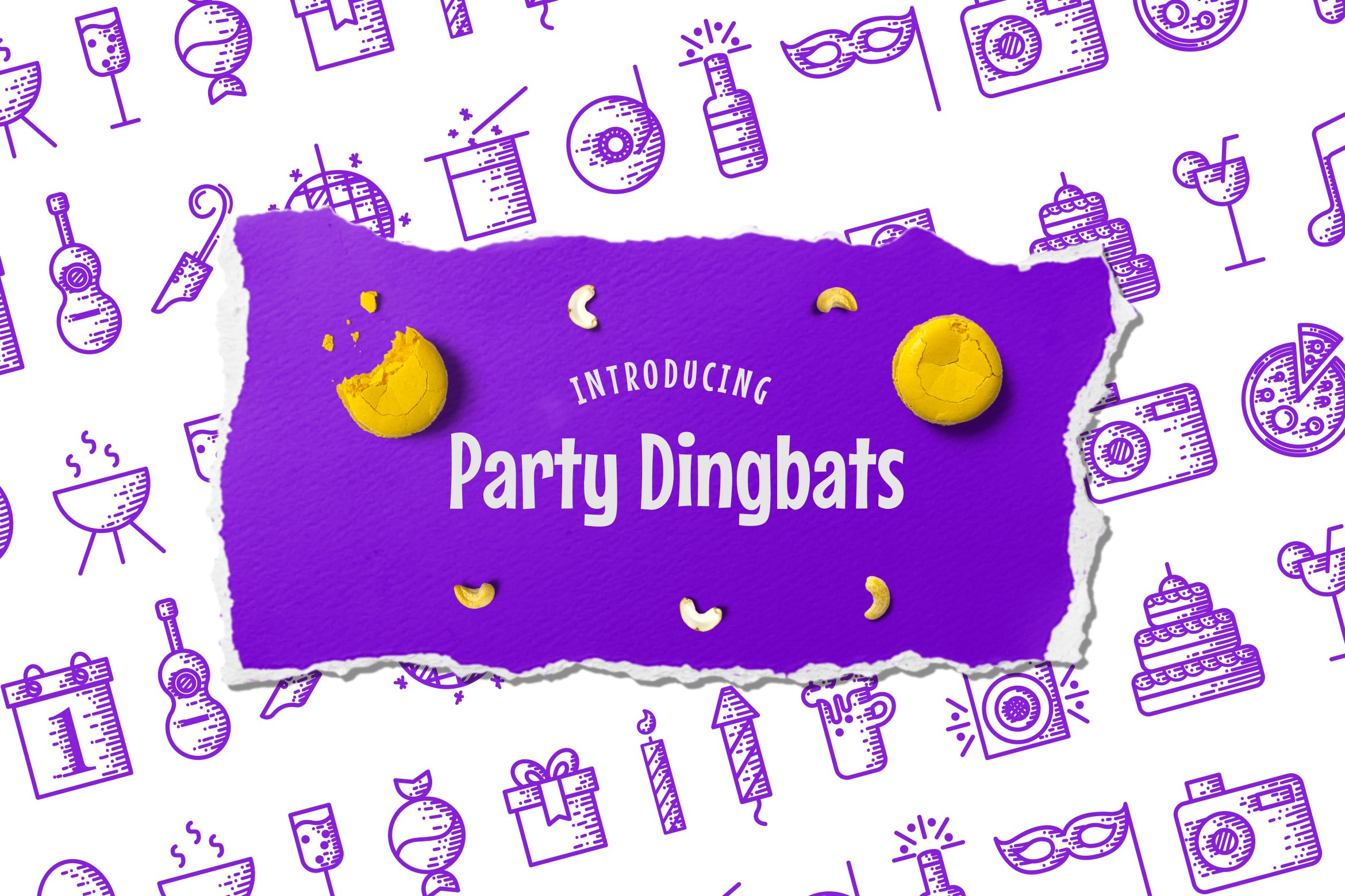 Party Dingbats Font example image 1