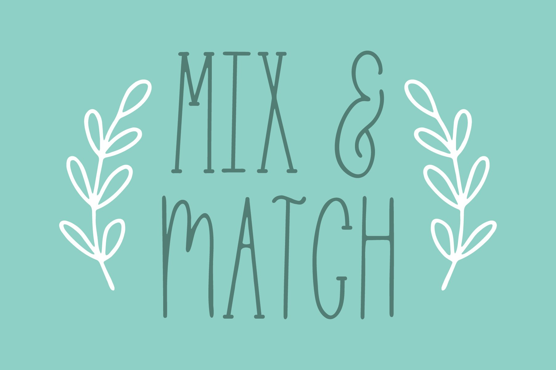 Skinny 4 Font Bundle, 8 Fonts from 4 Families example image 6