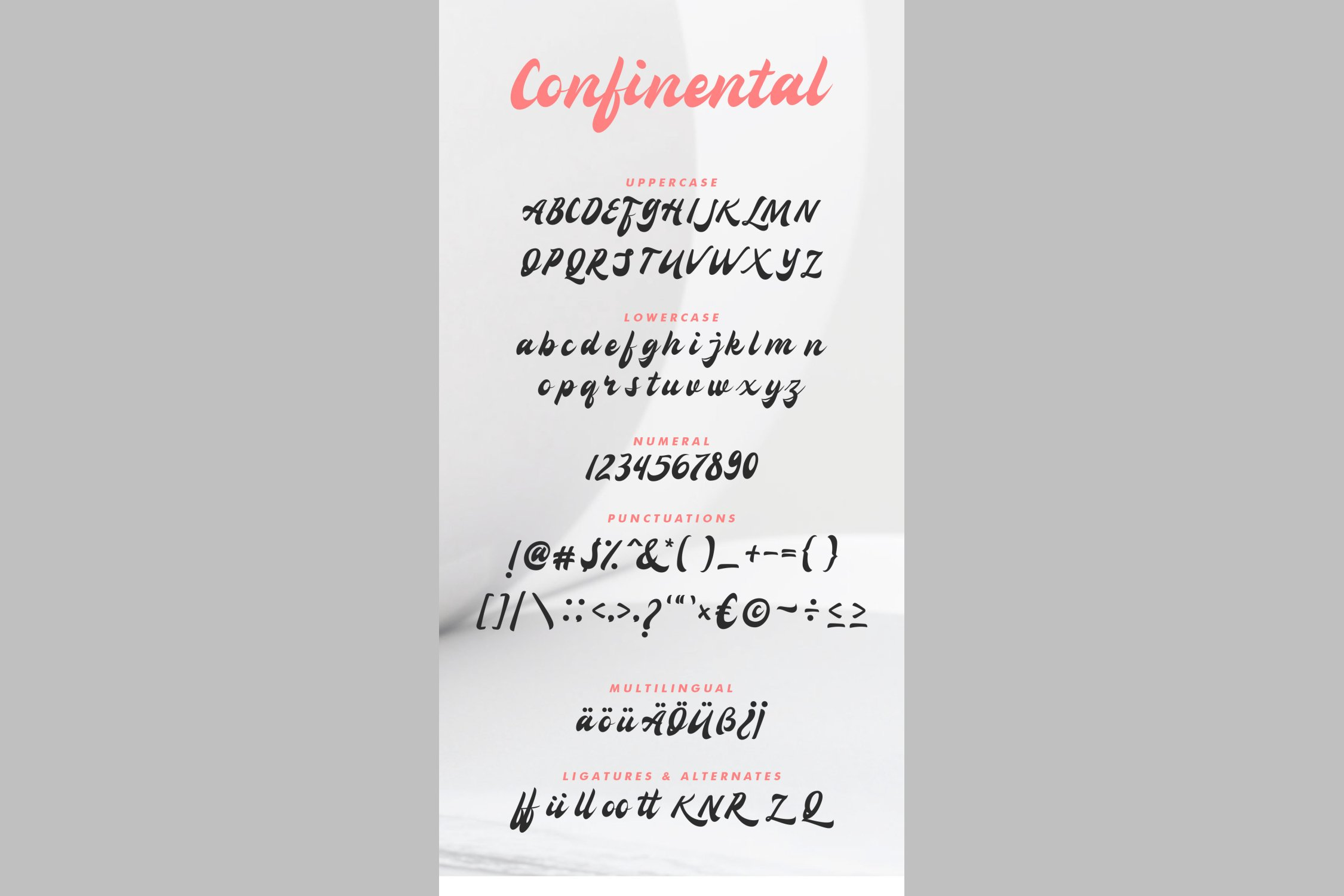Confinental - Retro Script example image 6