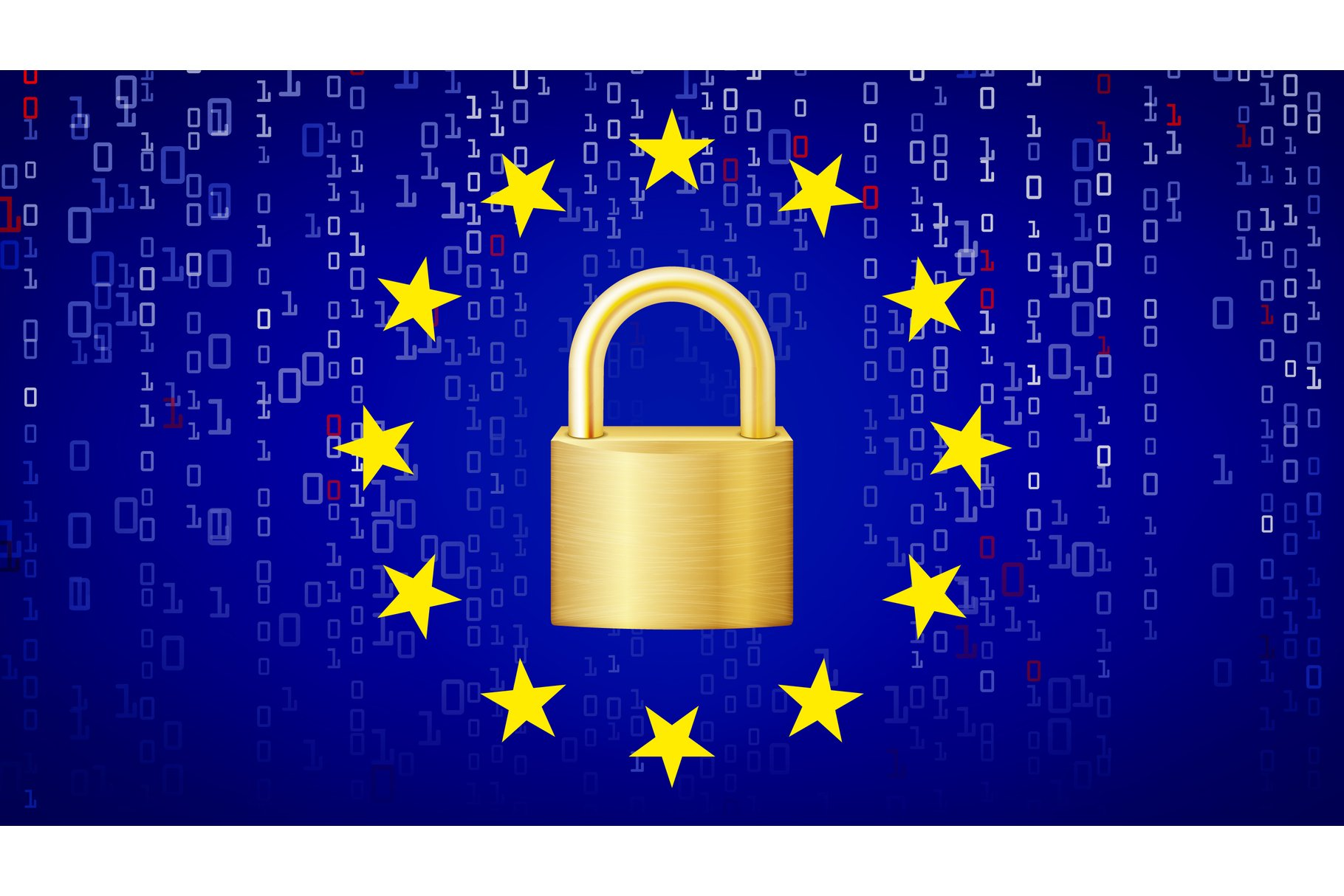 GDPR Background Vector. Padlock. Security Technology. example image 1