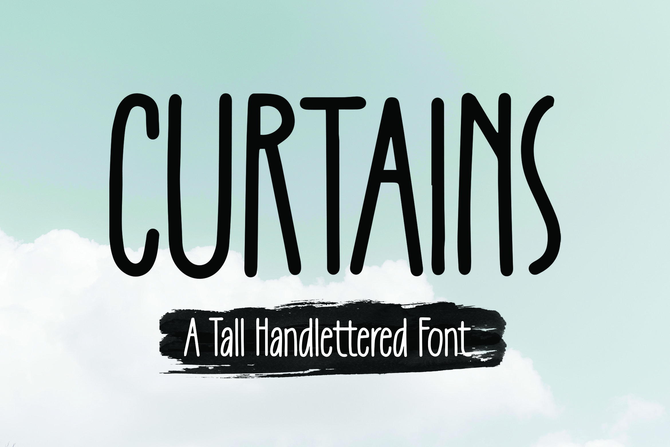 Curtains -Tall Handlettered Font example image 1