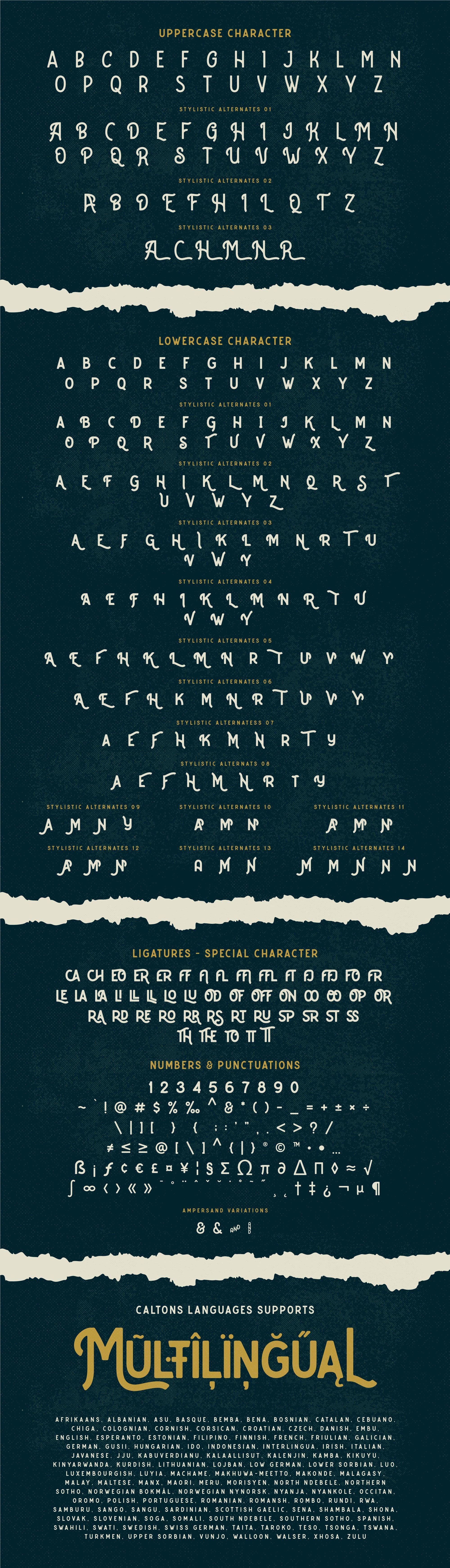 Caltons Typeface With Extra Bonus example image 14