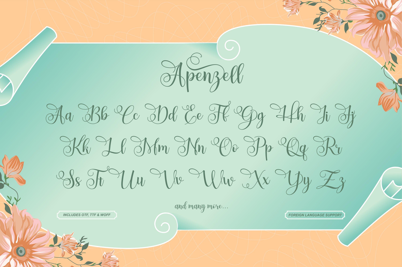 Apenzell Script | free wedding monogram logo example image 6