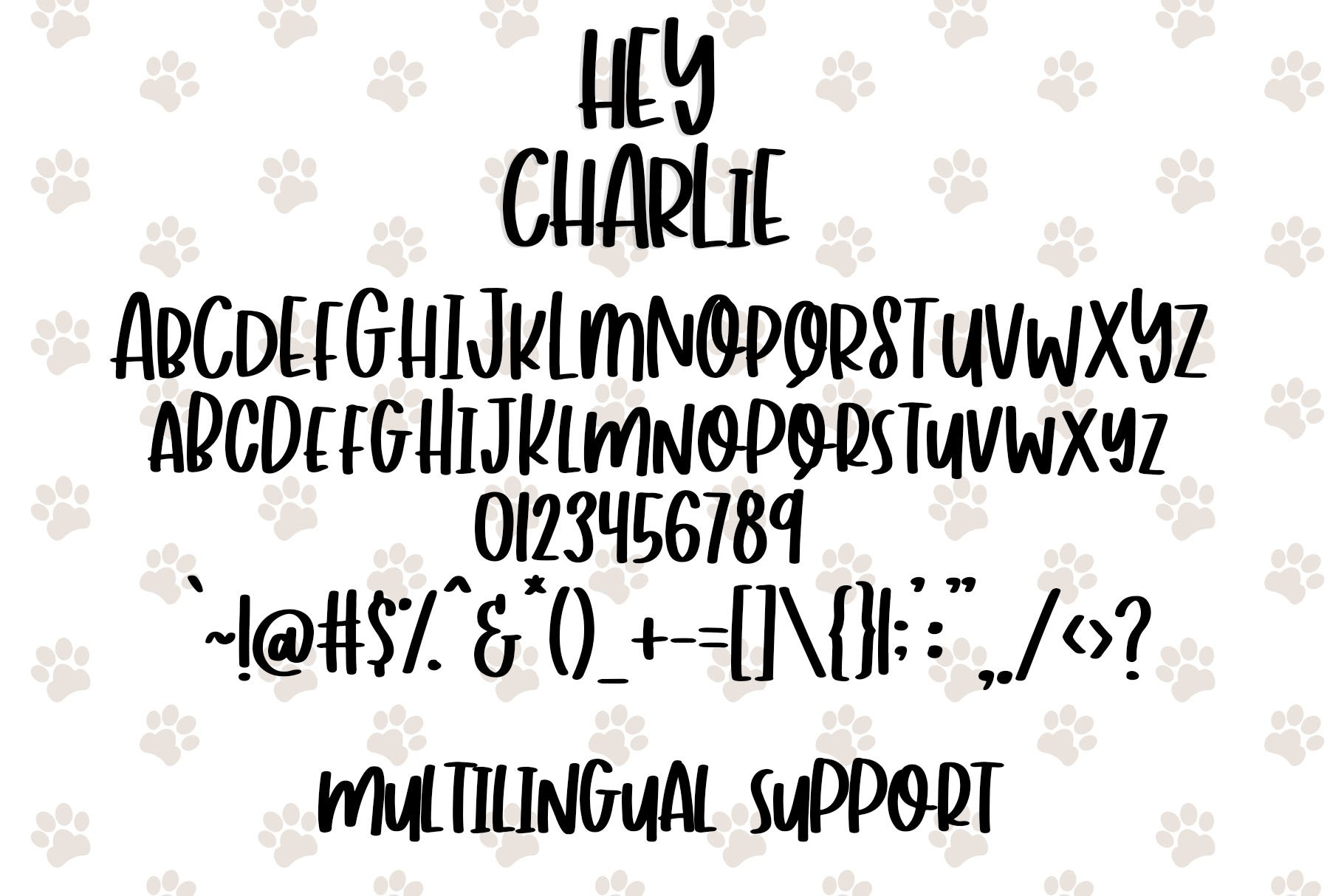 Hey Charlie - Fun Mixed Case Font example image 5