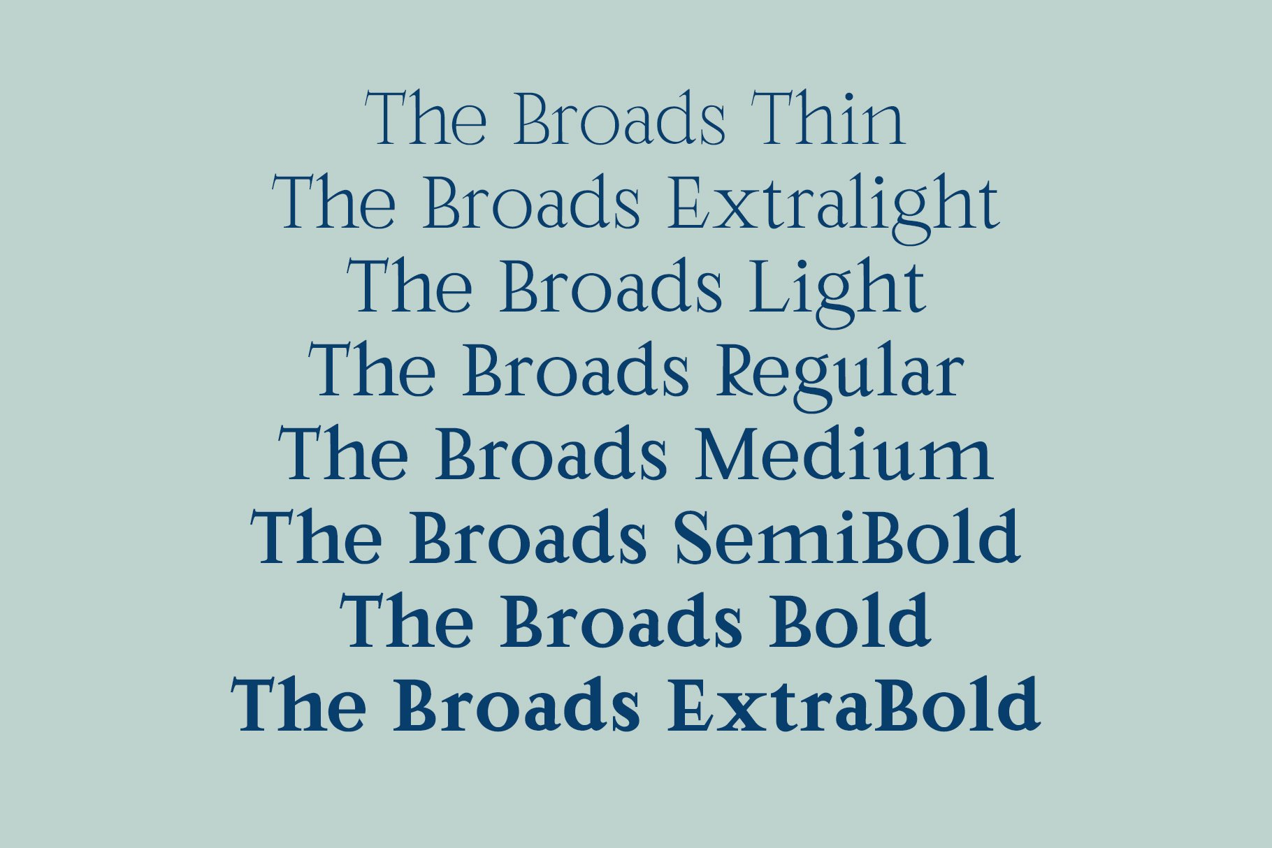 The Broads Font example image 6
