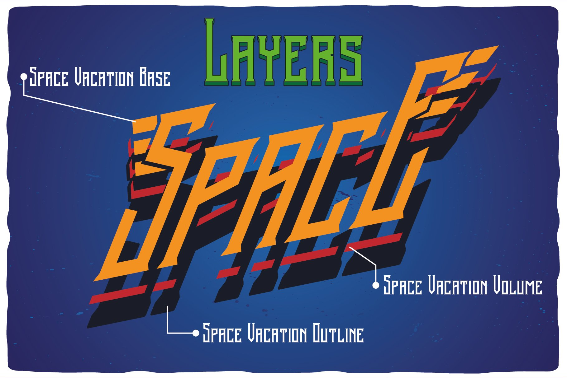 Space Vacation layered font example image 4