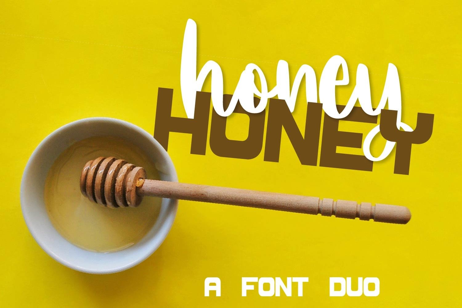 Honey Honey - A Font Scripts and Print Duo example image 1