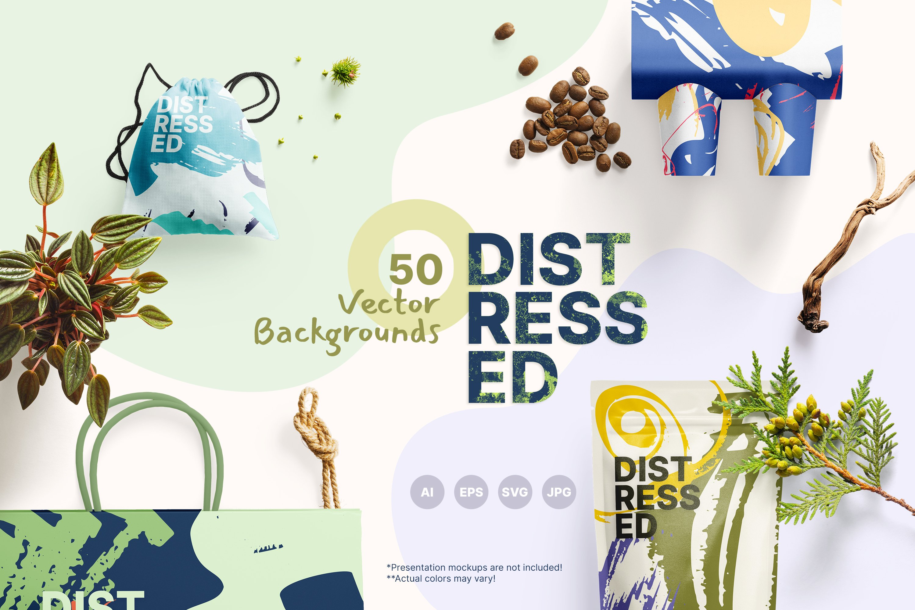 Distressed Vector Backgrounds example image 1