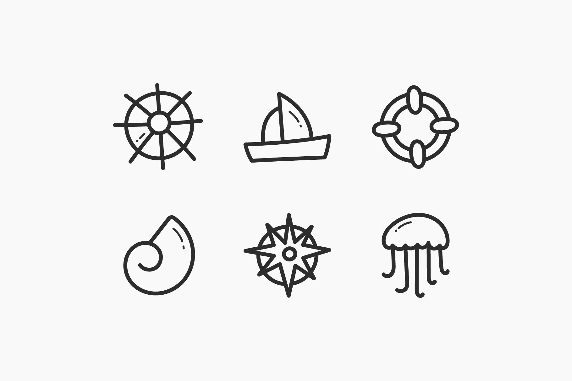 Sea Hand-Drawn Doodle Icons example image 2