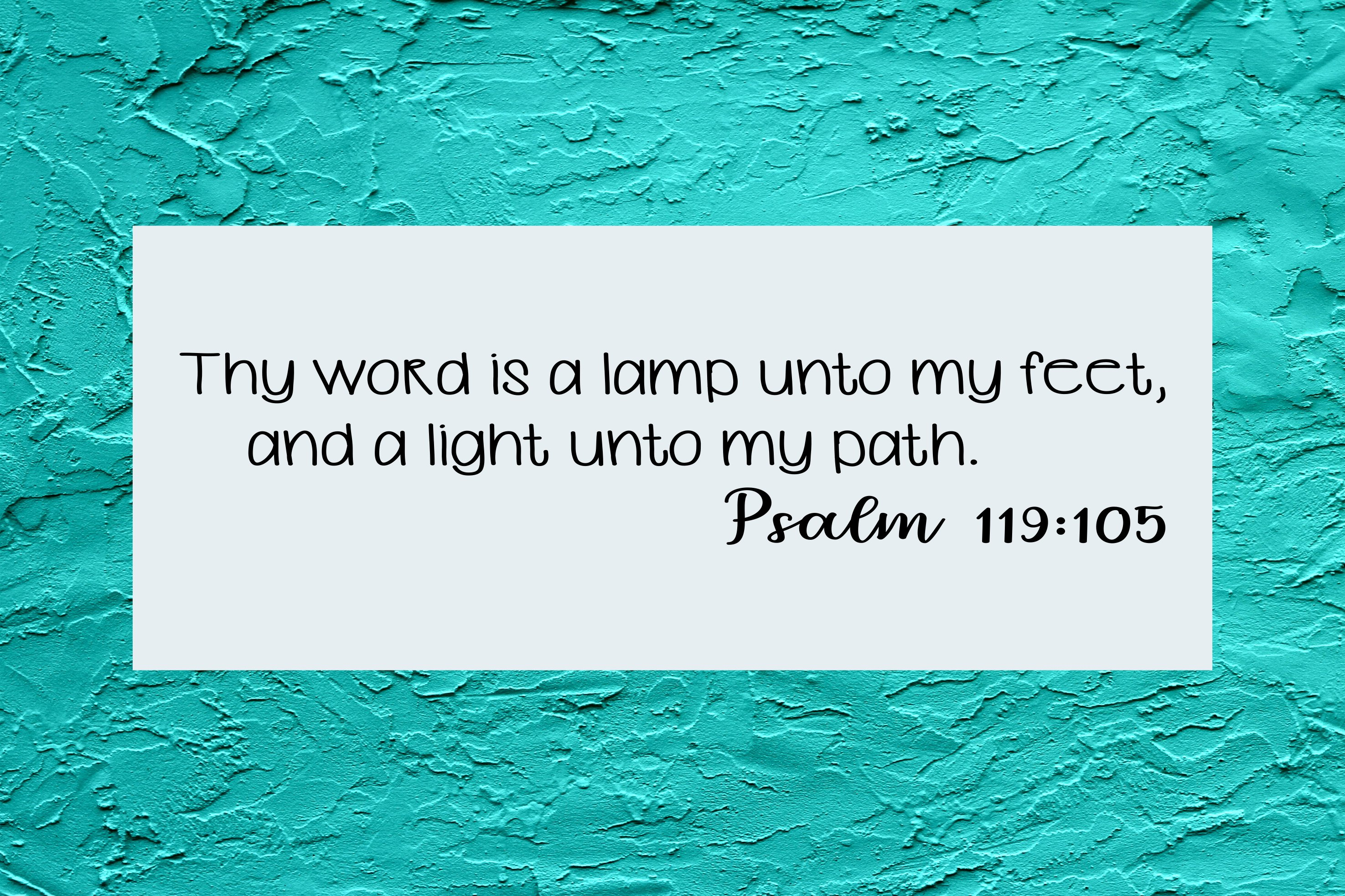 Psalm 119 Cut File - SVG & PNG example image 2