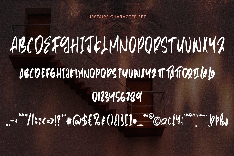Upstairs - Handwritten Brush Font example image 6