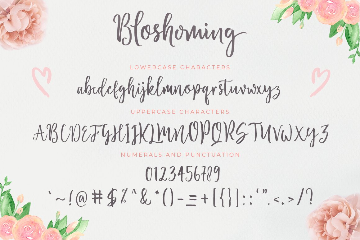 Blossomed Script example image 5