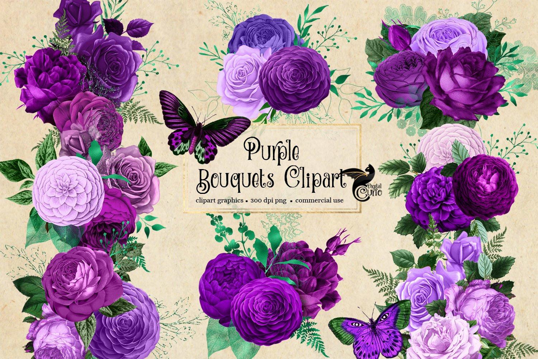 Purple Bouquets Clipart example image 4
