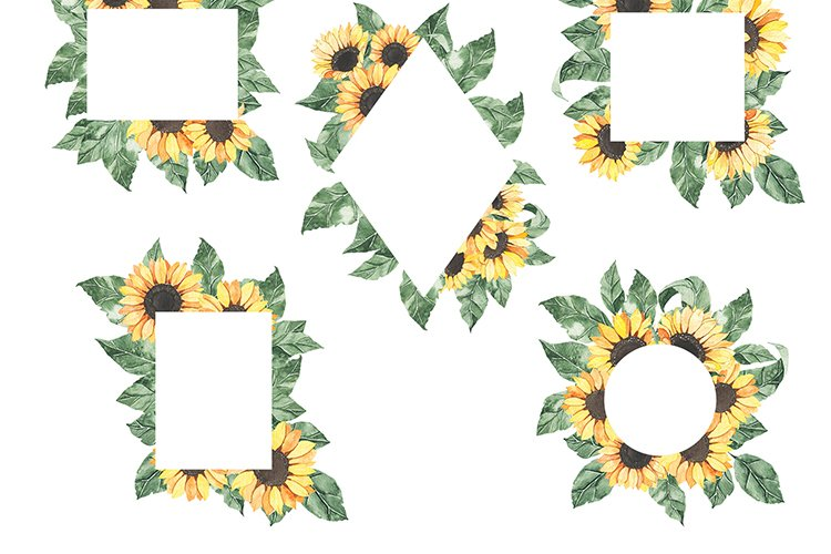 Watercolor Sunflowers collection example image 12
