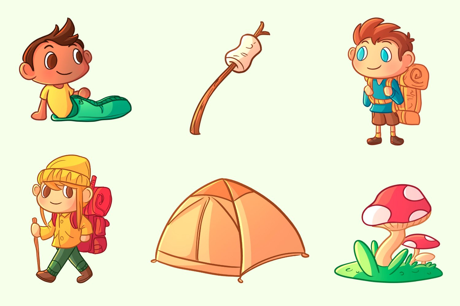 Kids Camping Trip Illustrations example image 2