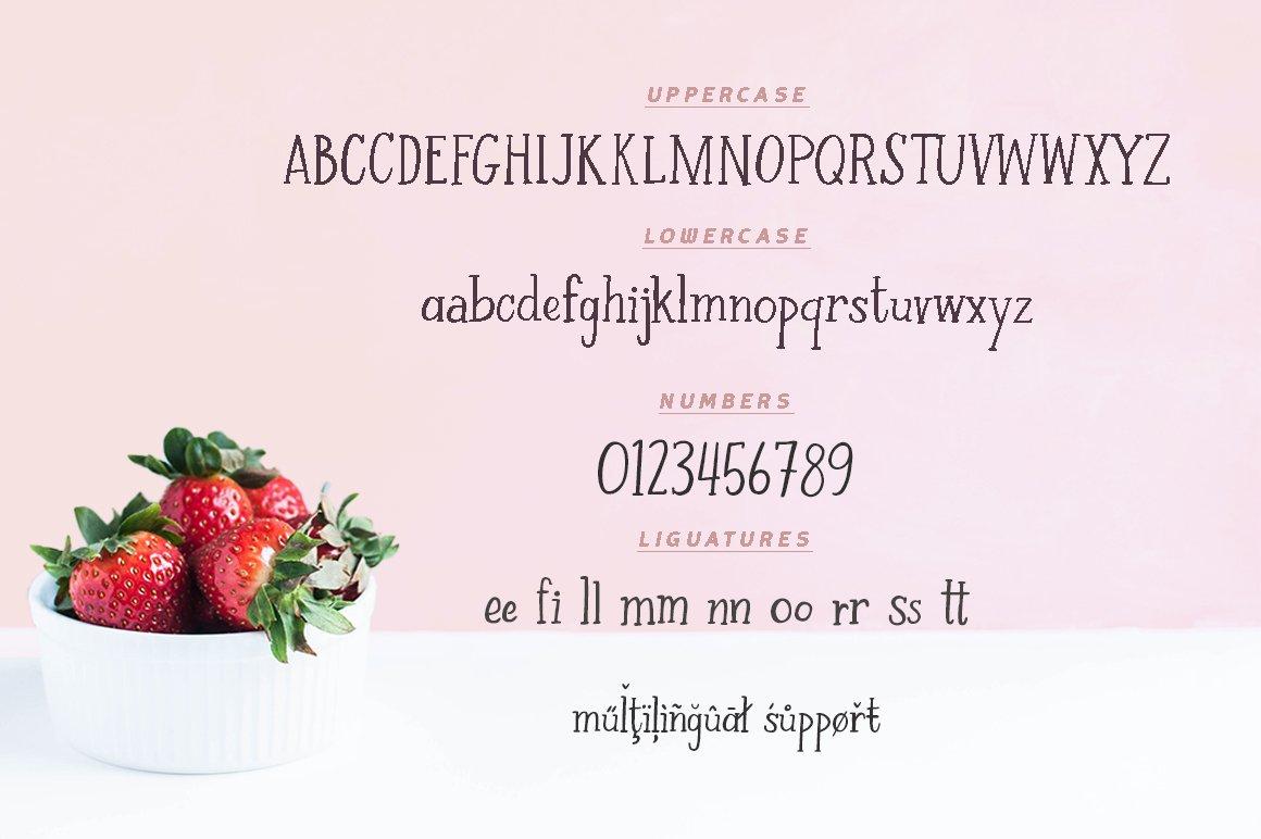 Strawberry Farm | A Serif Font example image 4