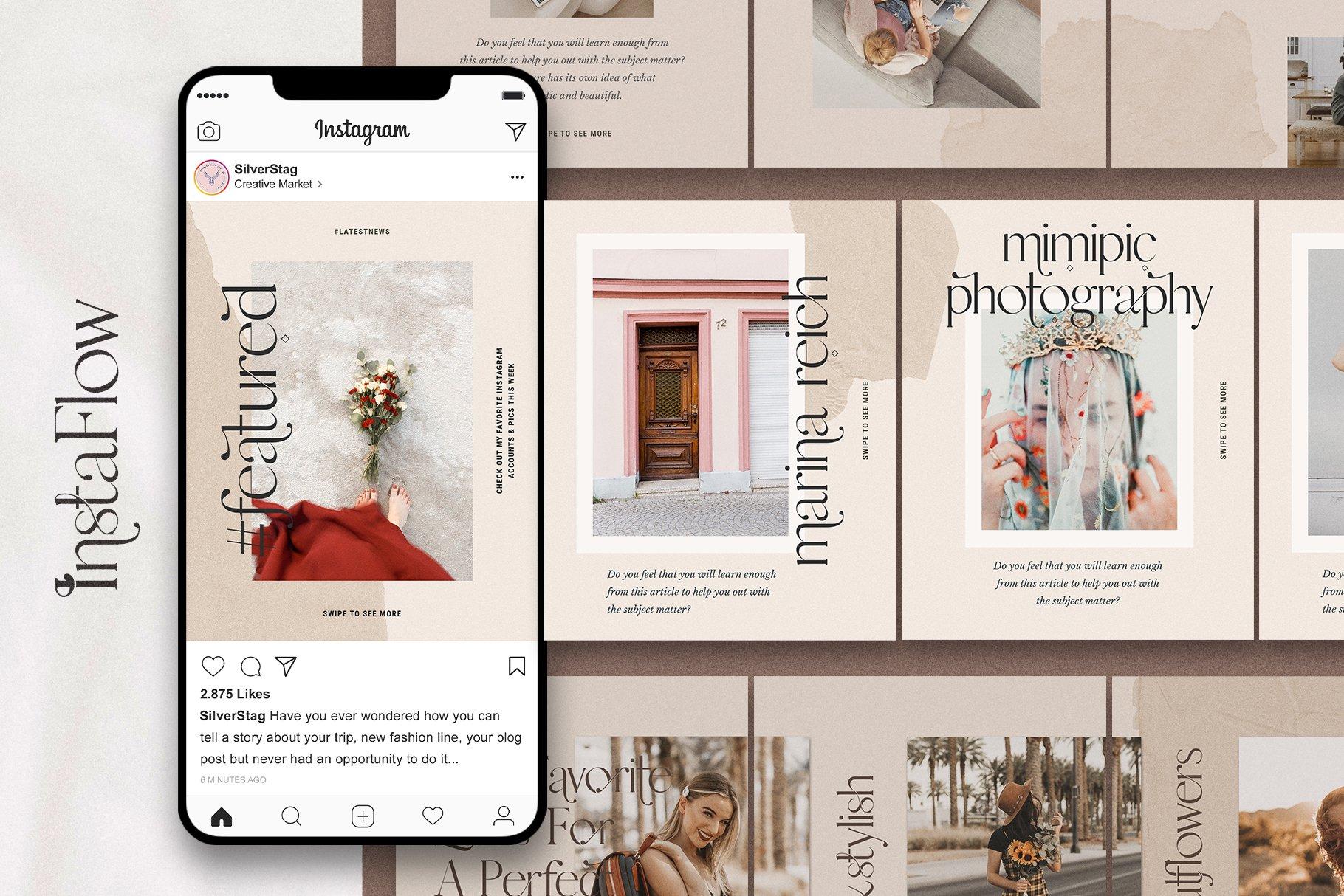 #InstaFlow Carousel Posts & Stories example image 7
