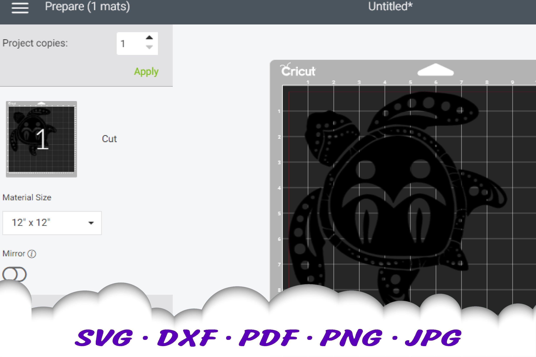 Gemini Zodiac Sign Sea Turtle SVG DXF Cut Files Bundle example image 4