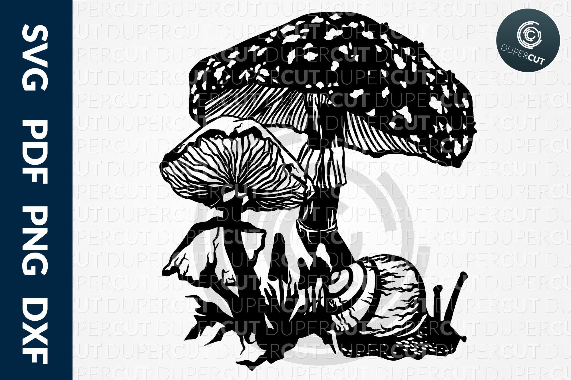 mushroom house papercut svg file nursery svg hand cutting dxf vinyl cut pdf silhouette cricut kids room decor woodland paper art