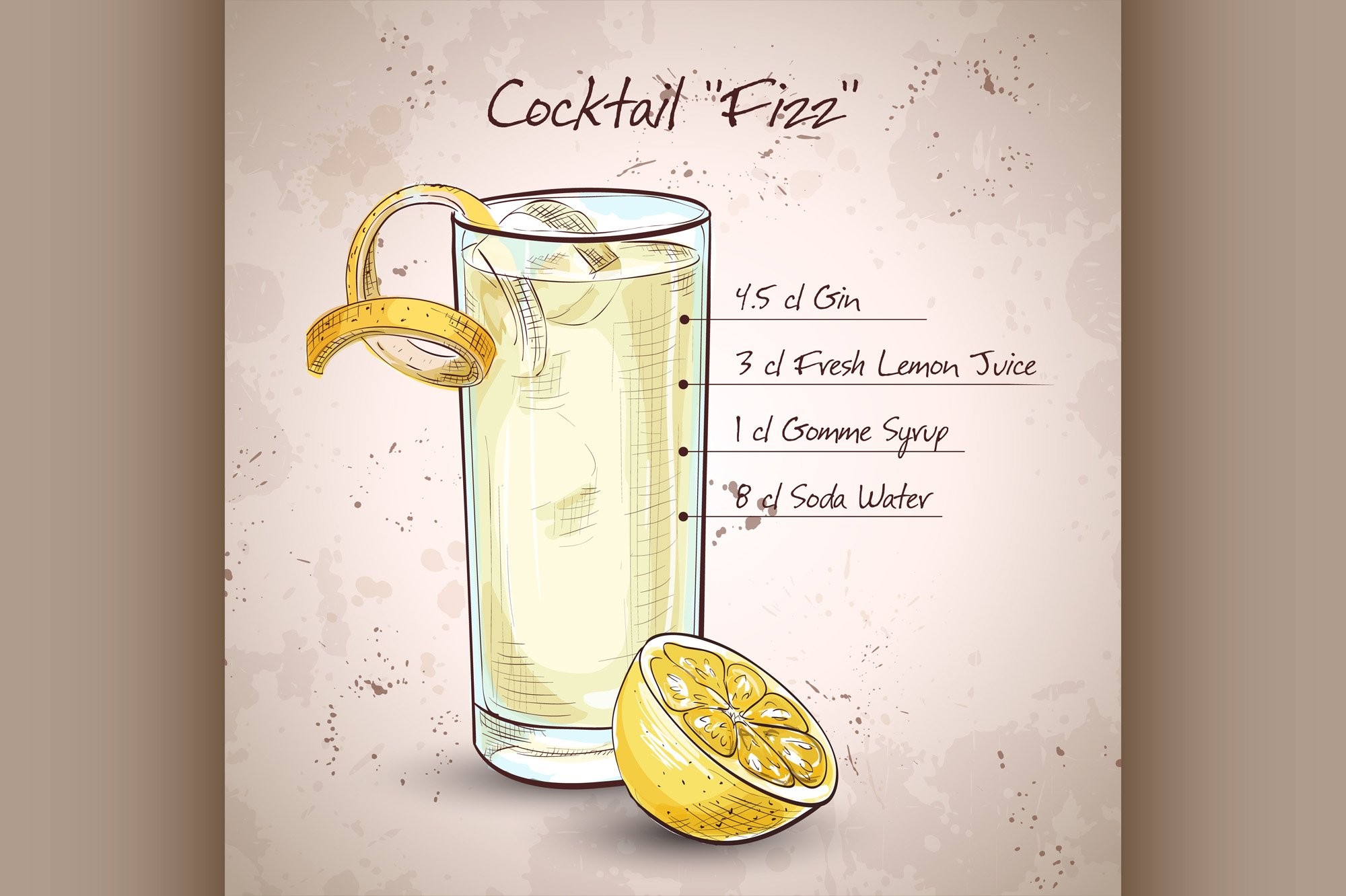 Gin Fizz cocktail example image 1