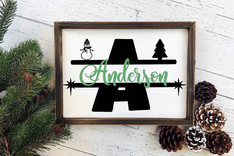 Hand-Drawn Christmas Split Monogram Font example image 4