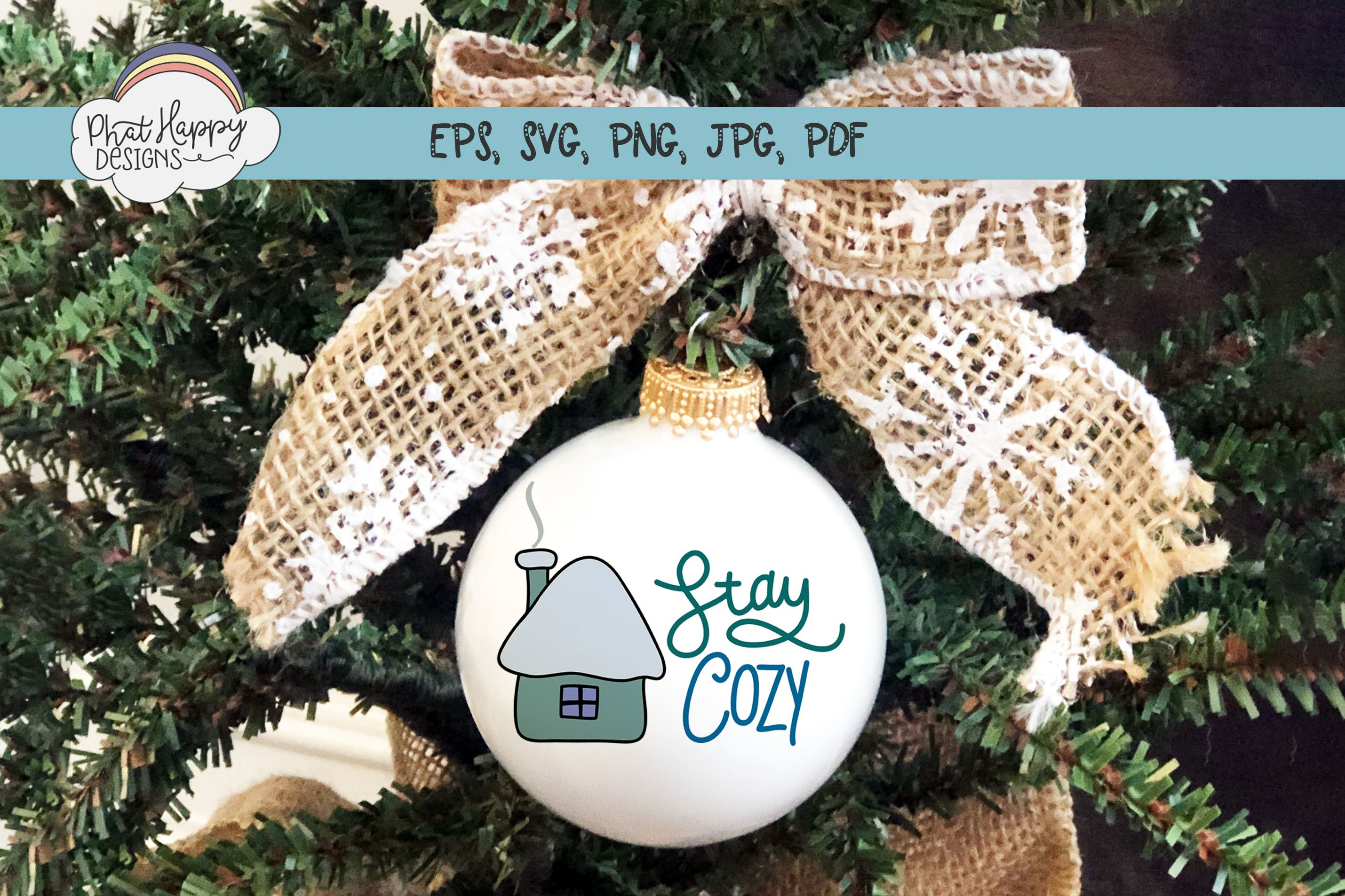 Stay Cozy- Hand Lettered Christmas SVG example image 4