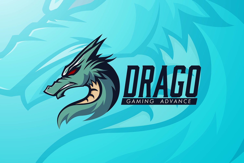 Dragon Head Logo Template example image 1