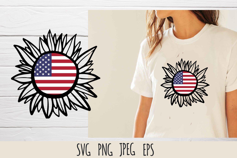 Patriotic sunflower SVG cut file bundle example image 3