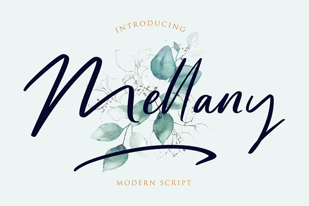 Mellany Modern Script Font example image 1