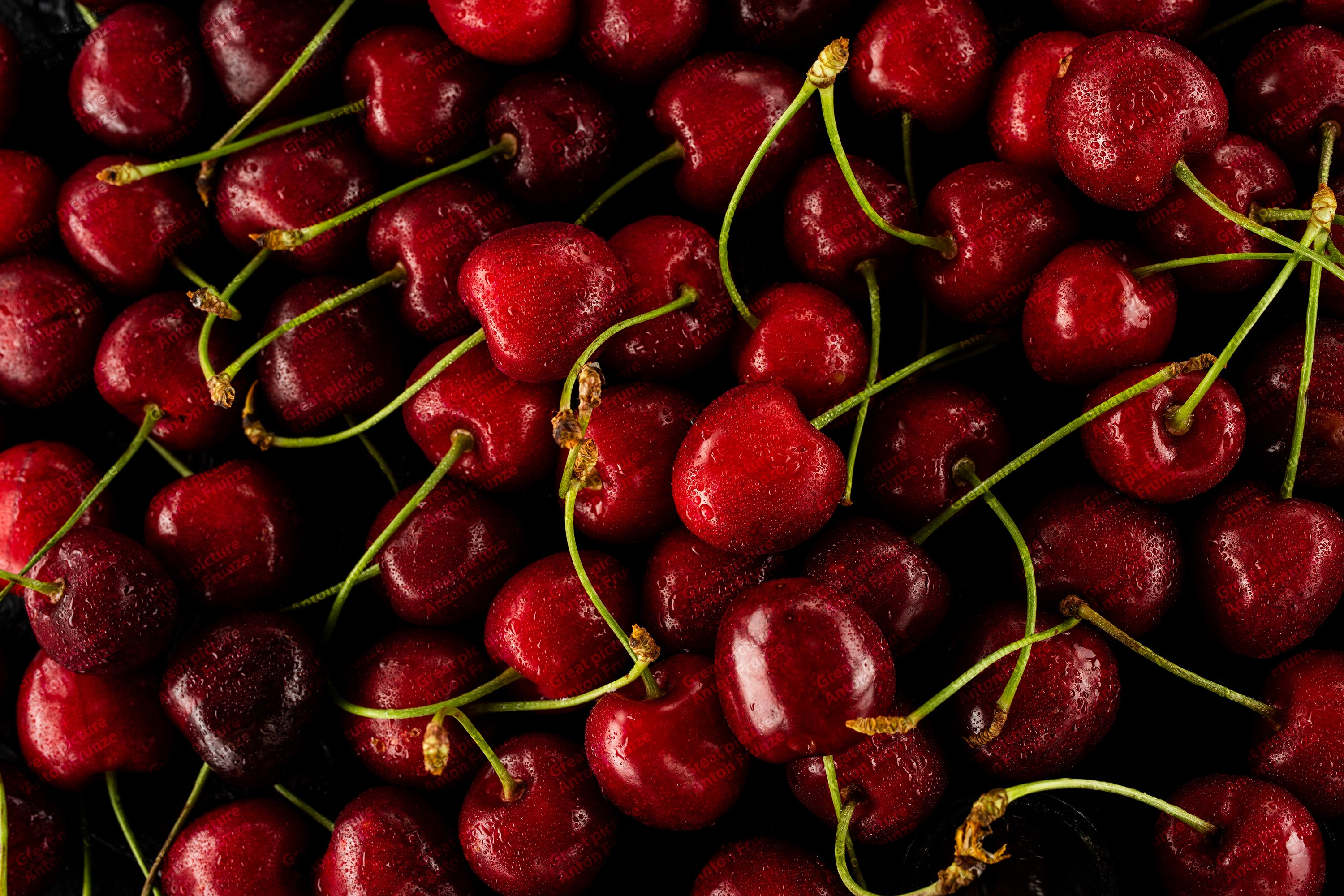 6 photos of juicy cherry texture with water drops example image 2