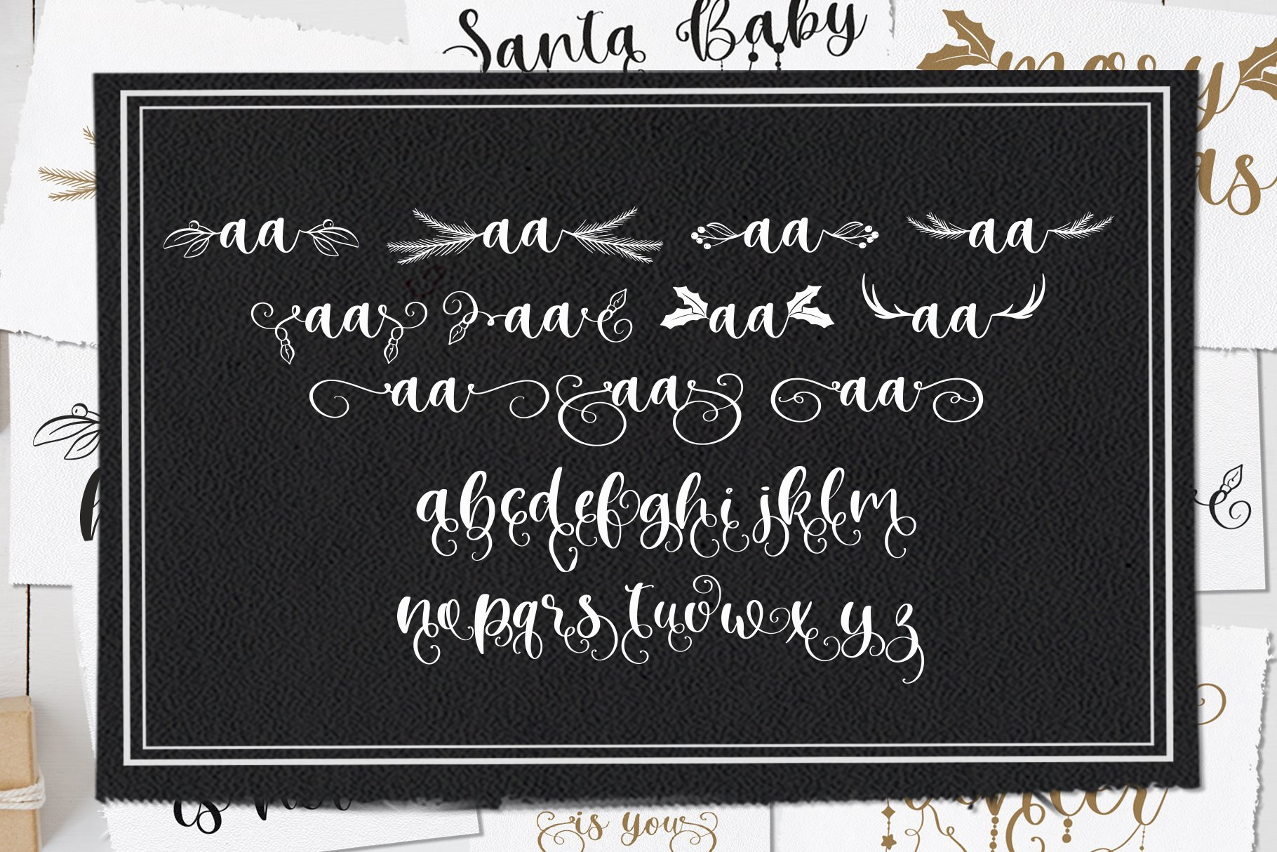 Winter Time. Decorative Script Font example image 12