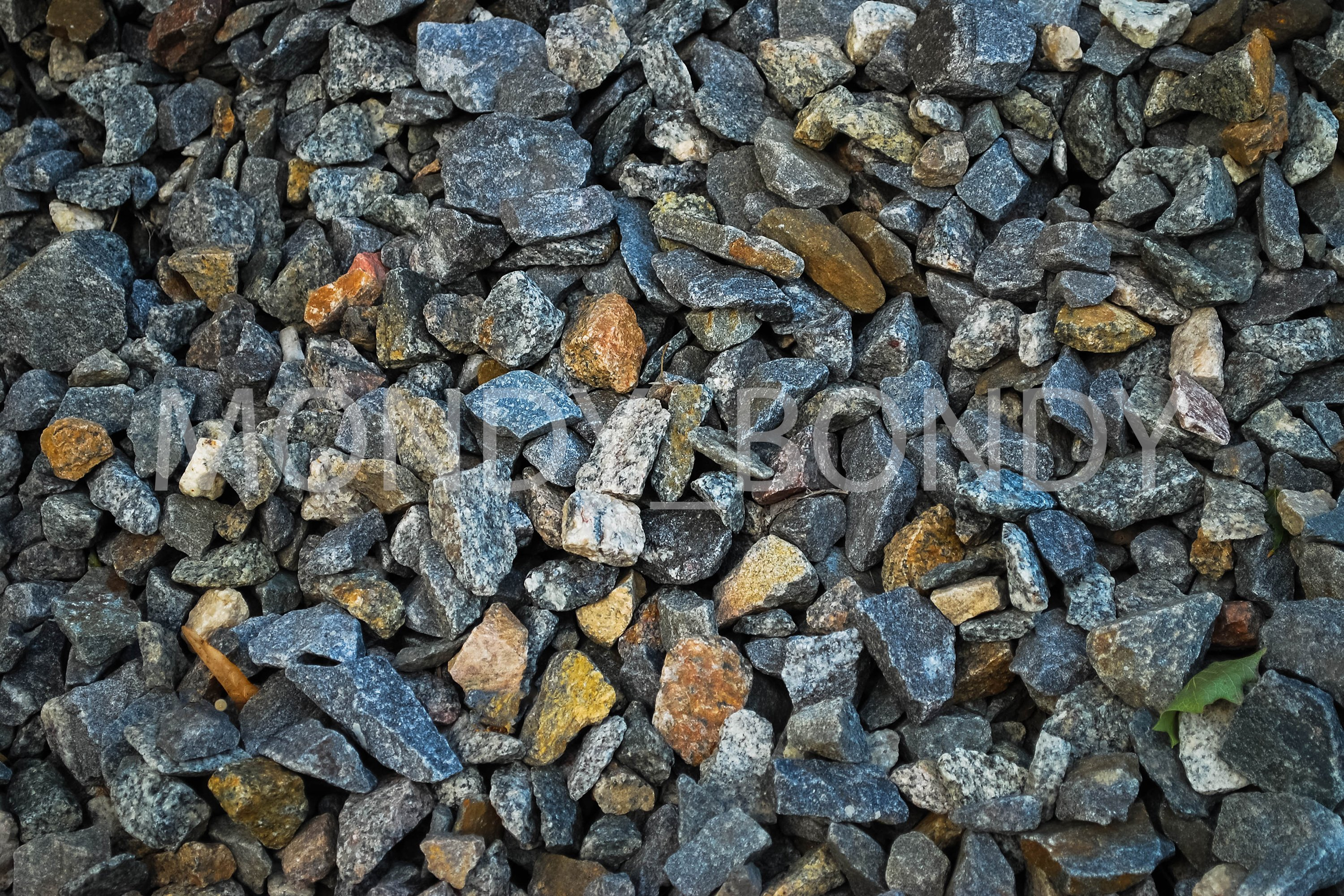 Texture of small stones close up example image 1