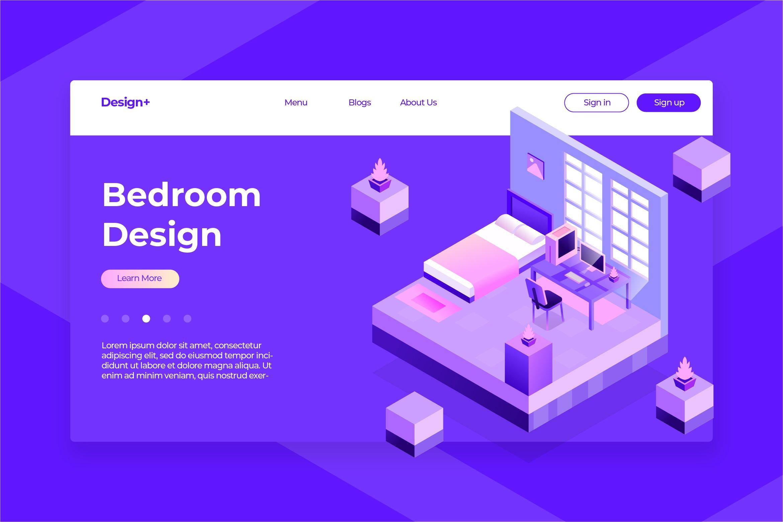 Bedroom - Hero Header & Landing Page example image 1