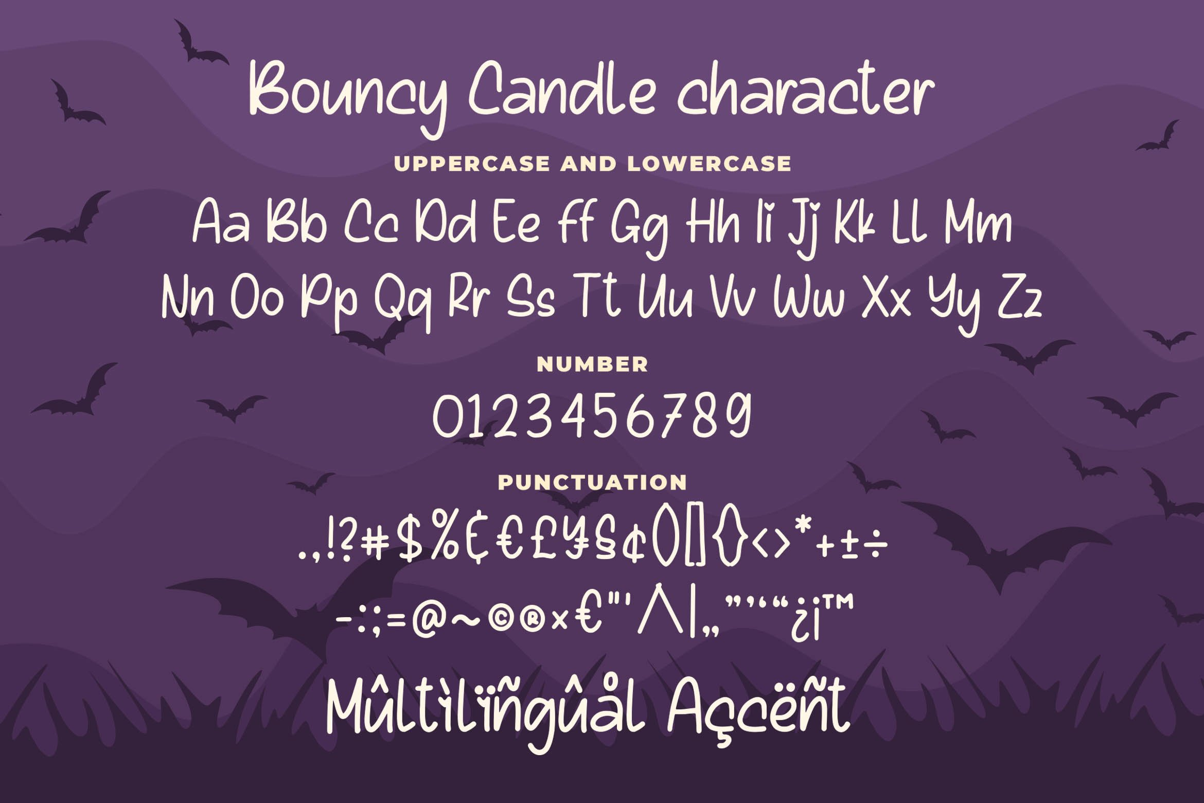 Bouncy Candle - Playful Monoline Font example image 5