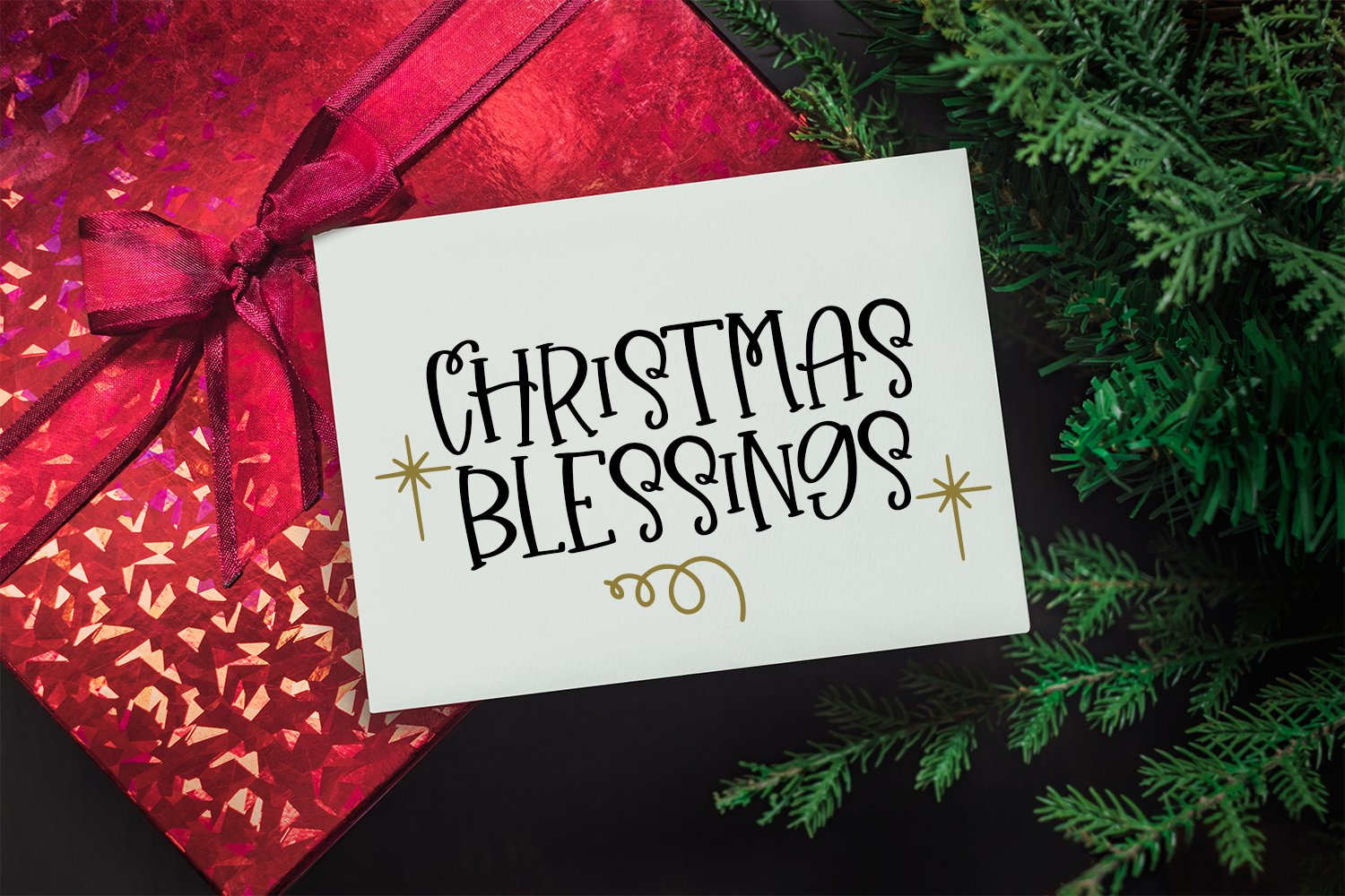 Christmas Wishes - A Christmas Handlettered Font Duo example image 9