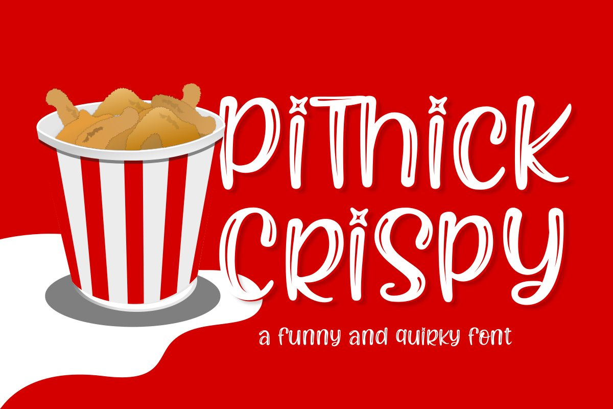Pithick Crispy | a funny and quirky font example image 1