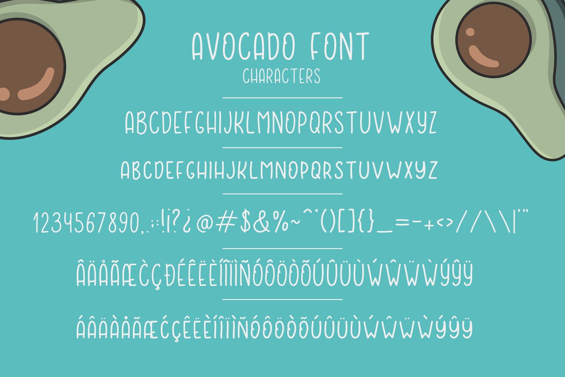 Avocado font example image 2