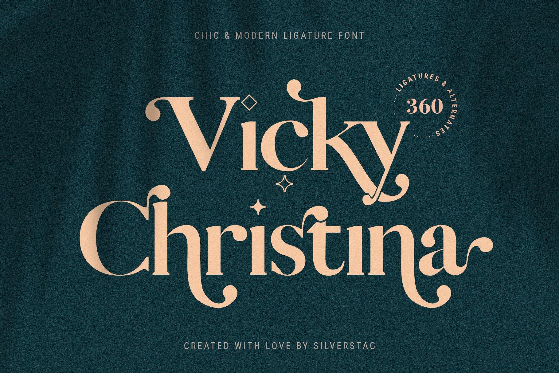 Vicky Christina - Chic & Stylish Ligature Serif Font example image 1