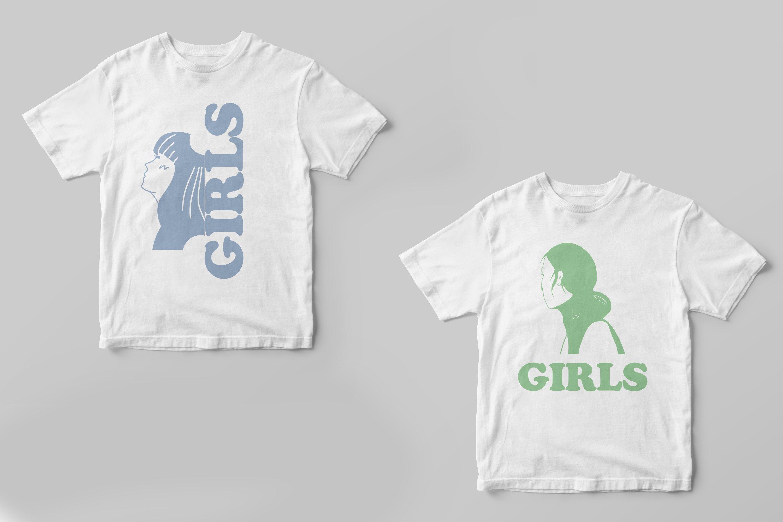 Girls portraits! 9 illustrations - eps, svg, png, jpg, cdr example image 2
