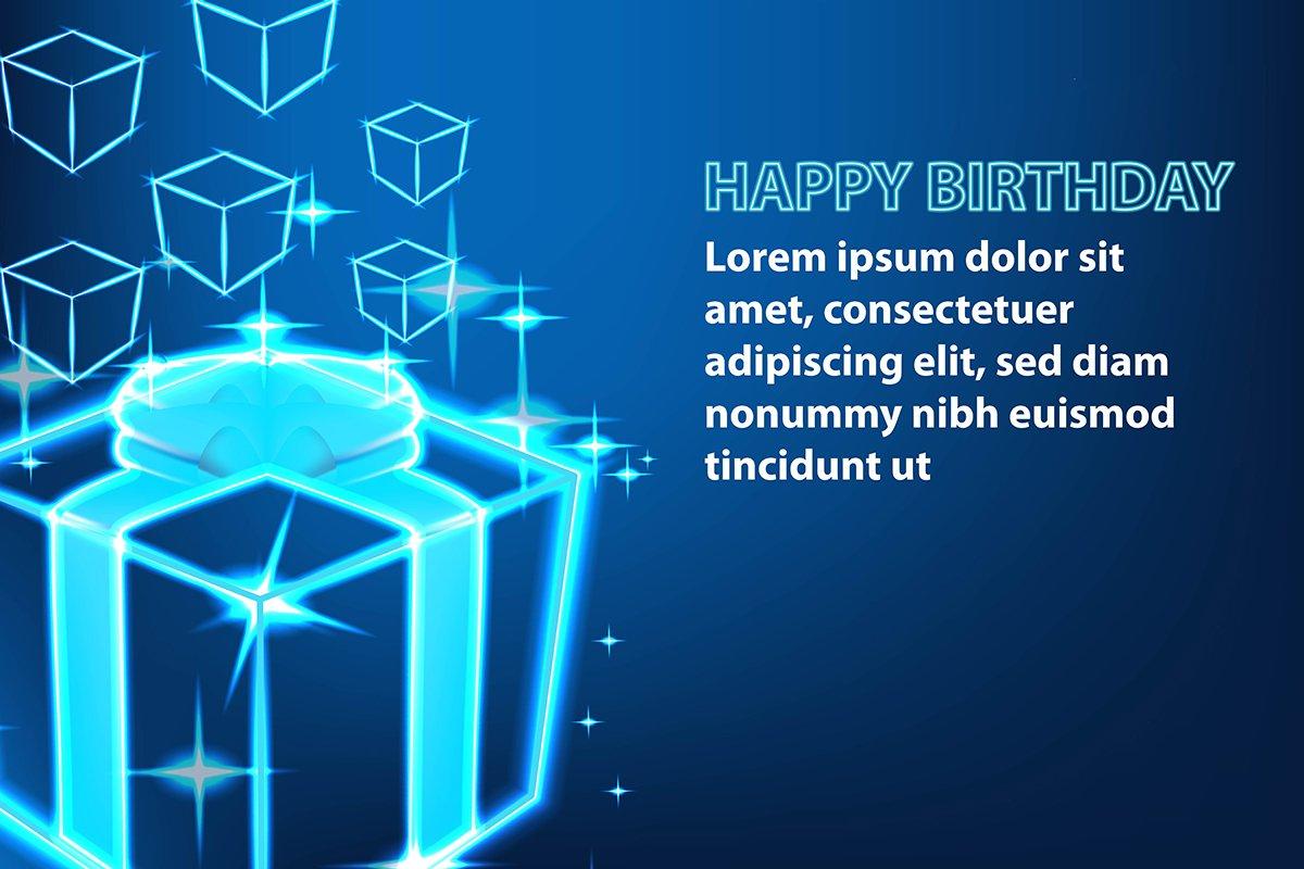 Shine gift box, Happy birthday banner example image 1