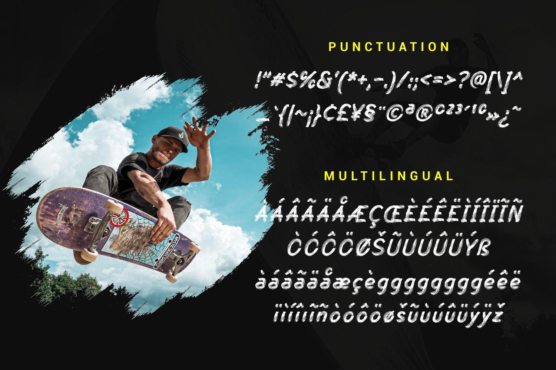 Skate Matter - Brush Texture Typeface example image 6