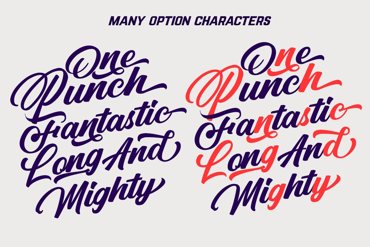 Punch Limit Font Combination example image 8