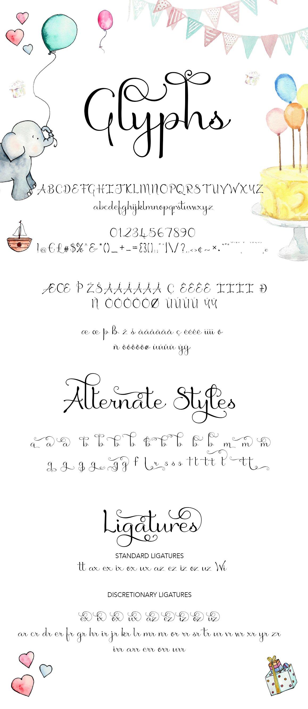 Birthday Script Font example image 7