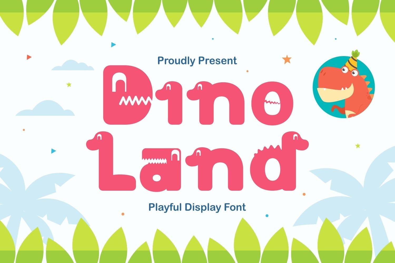 Dino Land - Playful Display Typeface example image 1