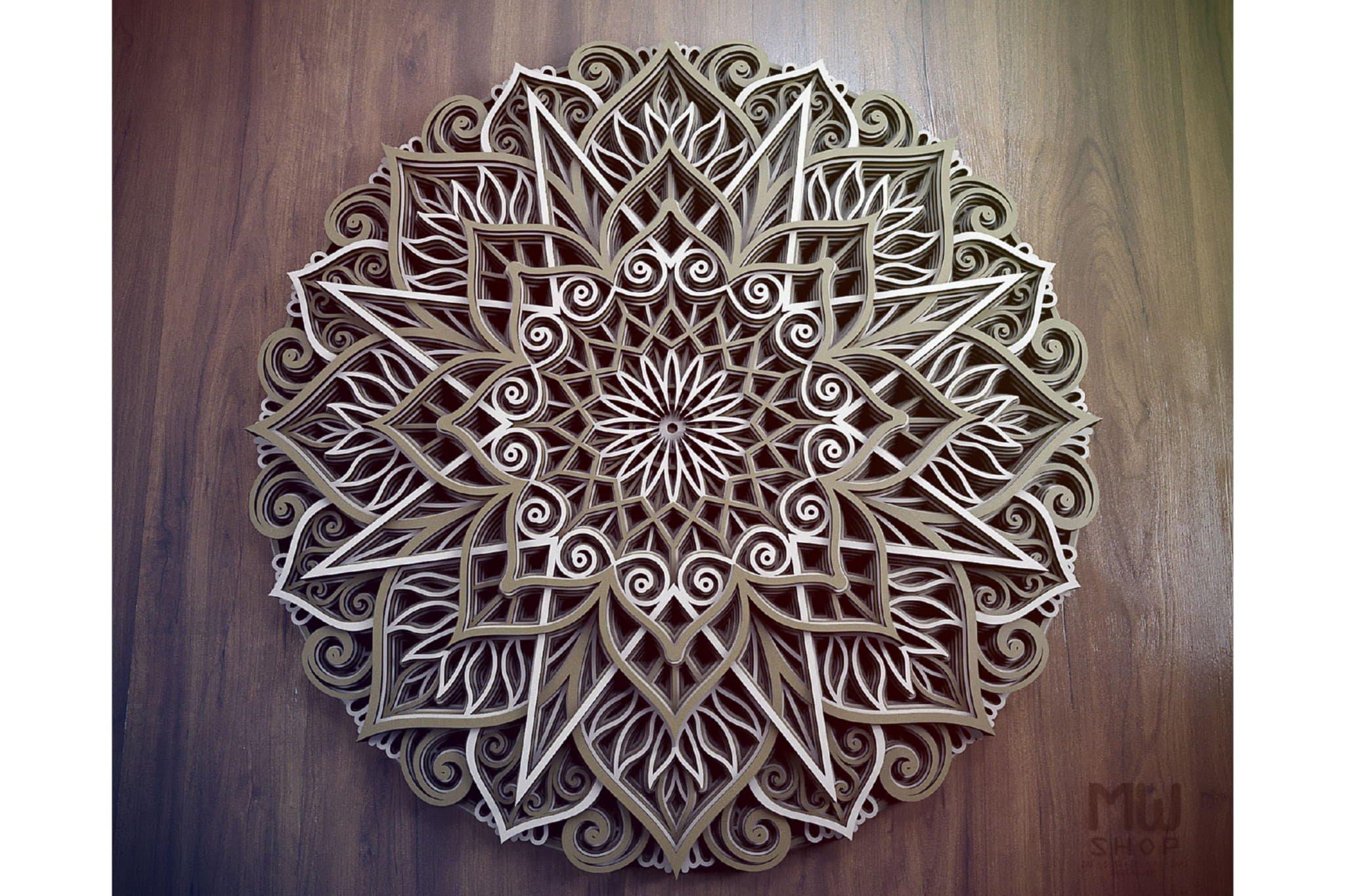 M89 - Mandala DXF Laser Cut Pattern, Flower mandala pattern example image 9