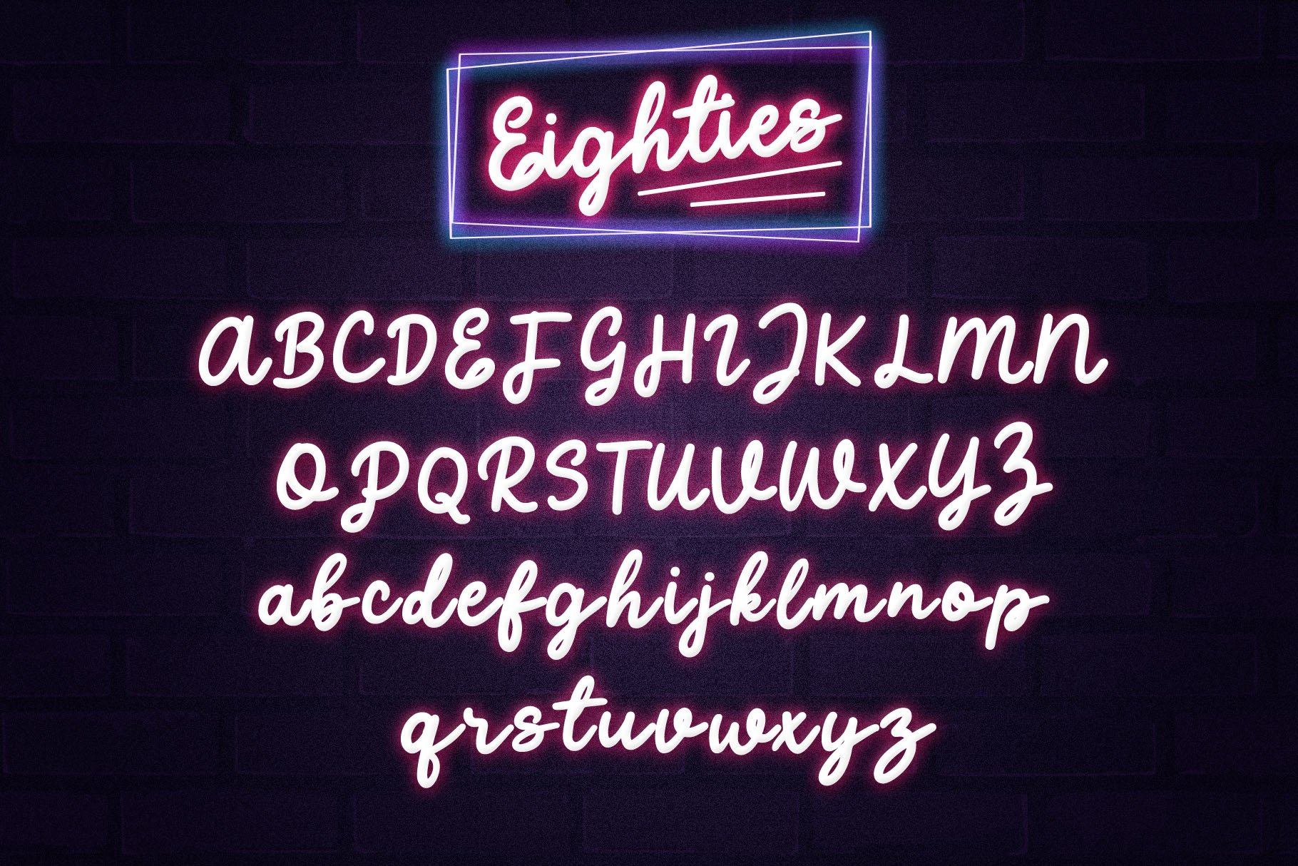 Eighties - Retro Script Font example image 5