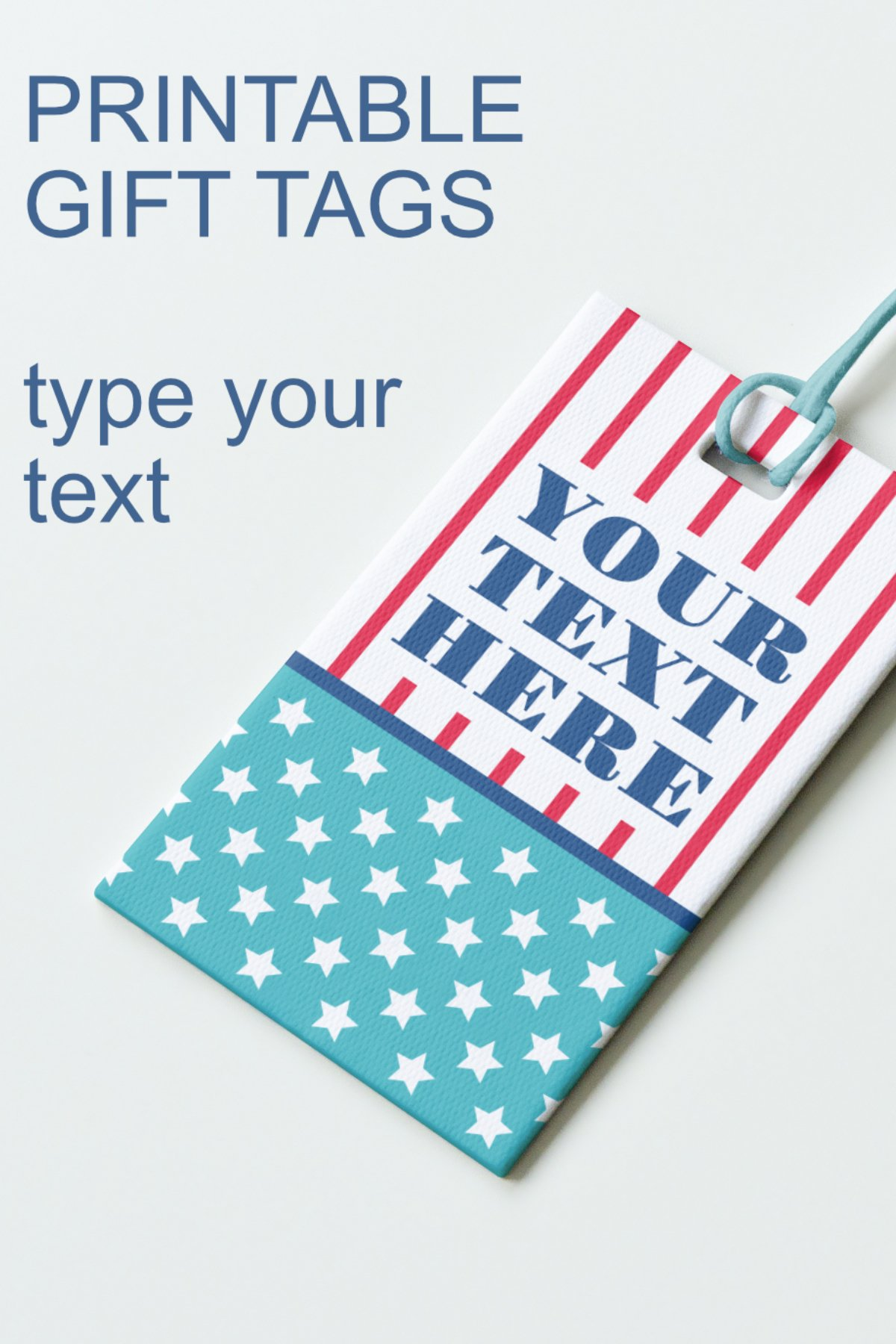 Patriotic Tags with Star Printable Editable PDF Tag Template example image 13