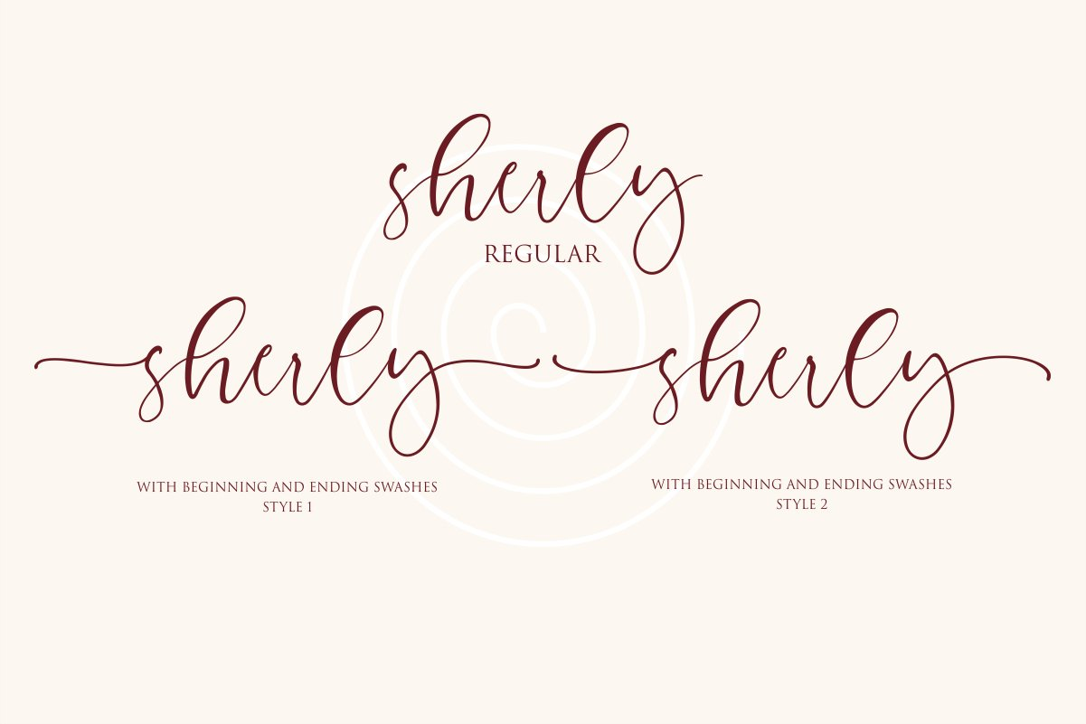 Charming - chic modern script font example image 8